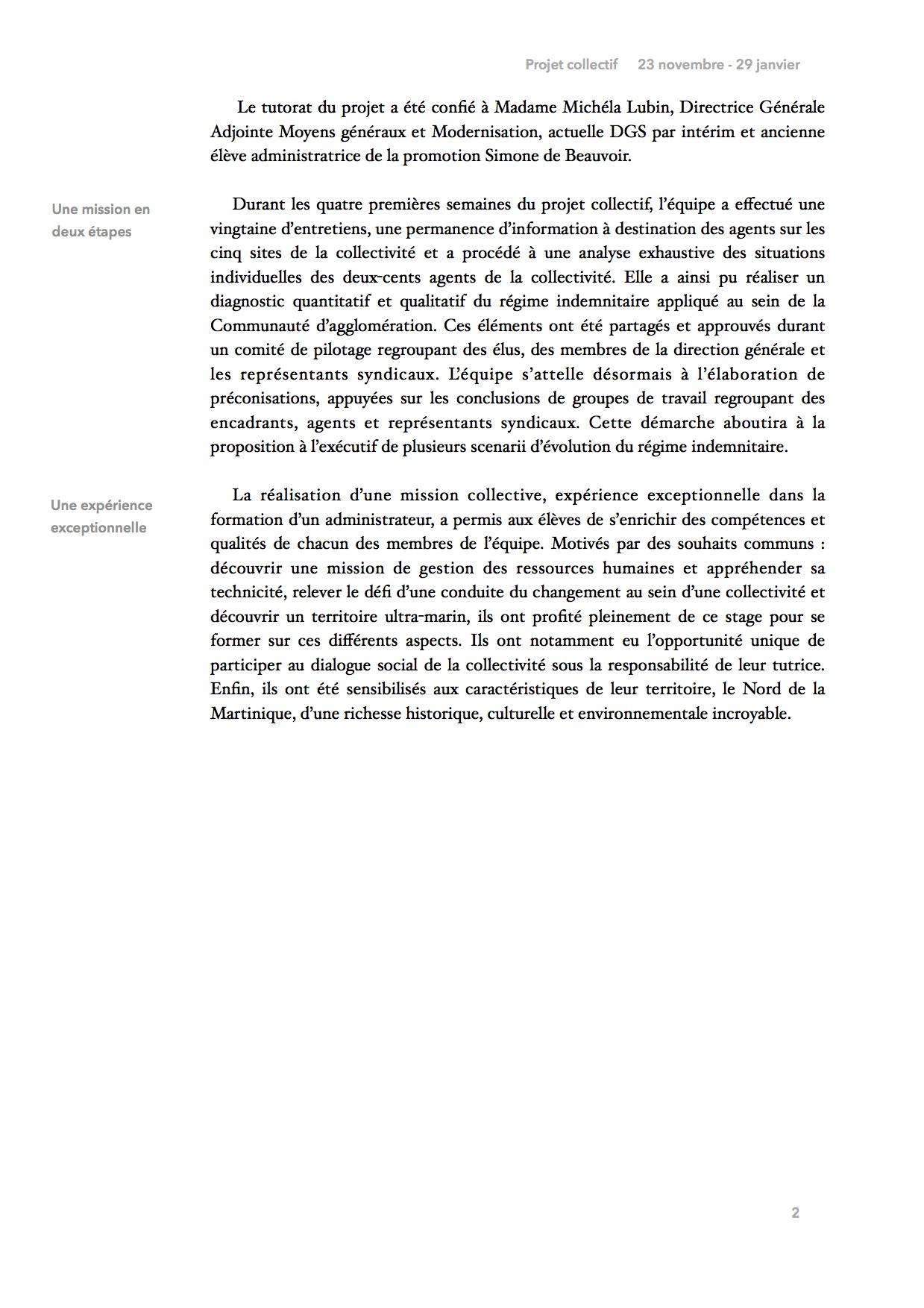 Le projet collectif, page 2