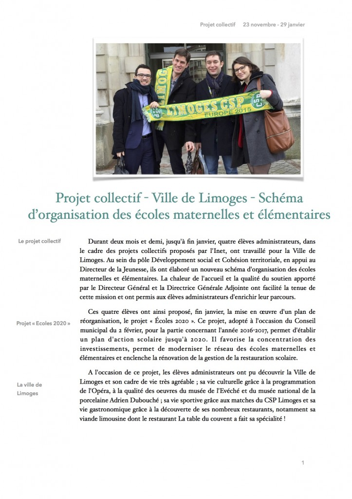 Article PCO - Limoges