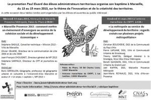 programme des tables rondes organisées par les élèves administrateurs 13 et 15 mars 2013