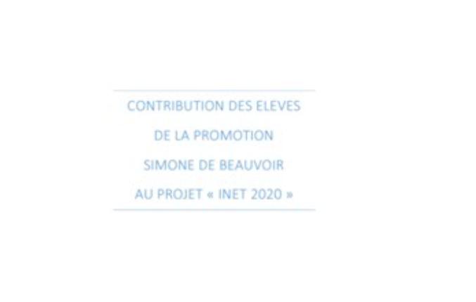 Contribution de la promotion Simone de Beauvoir au projet « INET 2020 »