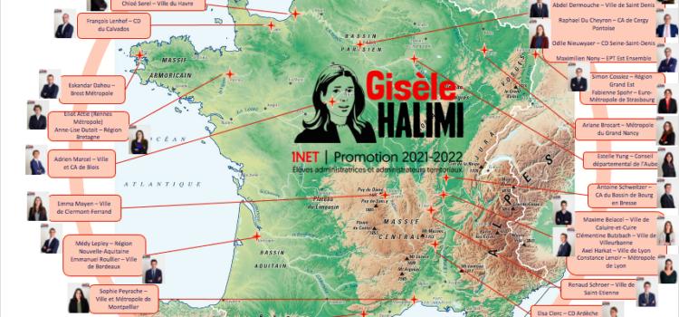 Cartographie des stages d'observation de la promotion Gisèle Halimi